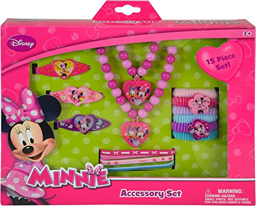 """Disney Minnie """"Bowtique"""" 15 Piece Accessory Box Set with Jew"""