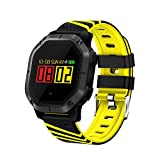 Hulorry Bluetooth Fitness Bracelet, Fitness Bracelet Watch Bluetooth Sports Smart Wristband with Color Screen Fitness Tracker Waterproof Swimming Multi-Sport Mode Wristband for iOS & Android