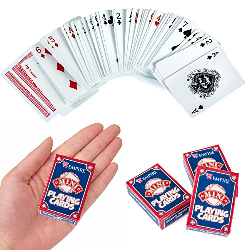 Mini Playing Cards - Casino Party Supplies, Poker Cards, Magic Tricks by Tigerdoe (3 pack)