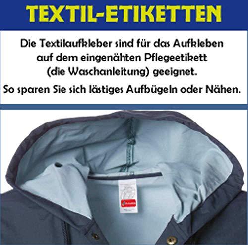 INDIGOS UG Namensaufkleber Textilien - schwarz - selbstklebend - 35 x 10 mm - verschiedene Farben - personalisierbar - Wäscheetikett - 60 Stück in einem Set