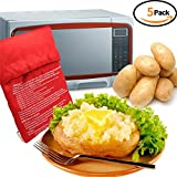 WINGOFFLY 5pcs Microwave Potato Cooking Bags Oven Steam Corn Sweet Potato Cooker Baker Pouch Pockets