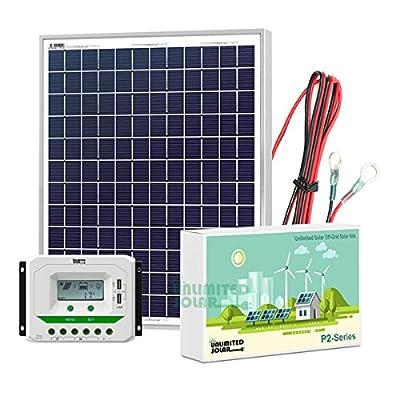 Unlimited Solar P3 Series 30 Watt 12 Volt Off-Grid Solar Panel Kit