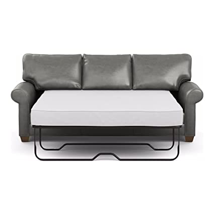 Ethan Allen Bennett Roll-Arm Leather Sofa, 86\
