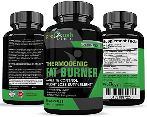 Thermogenic Fat Burner & Appetite Control Weight Loss Supplement– Superior Formula That Burns Fat & Increases Metabolism. Ultimate Appetite Suppressant by ProCrush Formulas