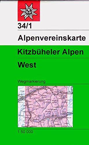 Kitzbüheler Alpen West  Wegmarkierung  Alpenvereinskarten