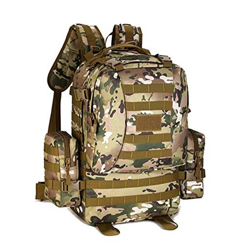 Genda 2Archer Protector Plus Deportes al aire libre militar Mochilas Asalto Táctico Mochila de excursión que acampa Trekking Bolsa (ACU Digital) CP Camo