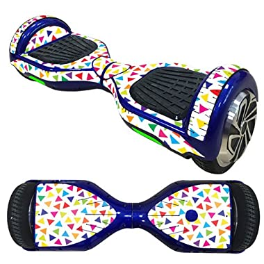 OYW Balance Board Hover Skins Decal,Protective Vinyl Skin Stickers Wrap for 6.5 inches Self Balancing Hoverboard Scooter Leray Sogo Glyro Swagway X1 Decals Cover - Color Triangle