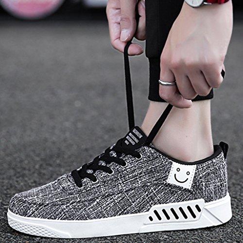 casual da 40 di di traspiranti scarpe da coreano stile Espadrillas selvatici estive Black Beige uomo scarpe Size uomo tela scarpe Scarpe YaNanHome Color basse Scarpe lino w67xYqUq