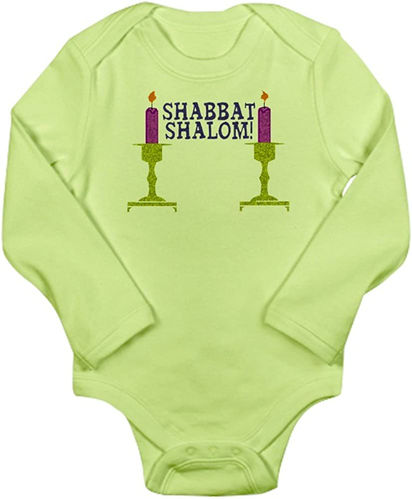 Long Sleeve Infant Baby Bodysuit CafePress Shabbat Shalom