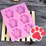 Silicone Cake Mold by QHB Cat Paw Print Silicone Cookie Cake Candy Chocolate Mold Soap Ice Cube Mold