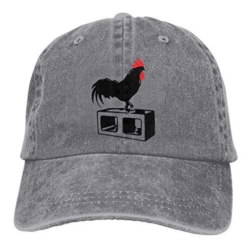 Baseball Cap for Men and Women, Cock Block Men's Cotton Adjustable Denim Cap Hat -
