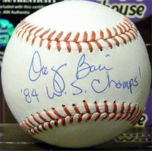 World Series Champs 1984 (Doug Bair Signed Baseball - inscribed 84 WS Champs 1984 World Series OMLB) - Autographed Baseballs)