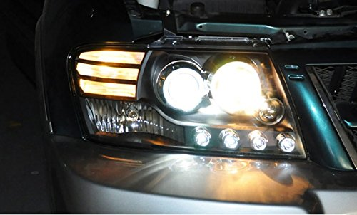 GOWE Car Styling For Mitsubishi Pajero V73 headlights For V73 LED head lamp Angel eye led DRL front light Bi-X Color Temperature:4300K;Wattage:35K 3