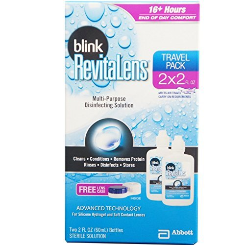 Blink RevitaLens Multi-Purpose Disinfecting Solution Travel Pack, Two 2 oz (Pack of 3)