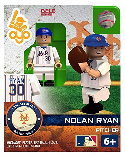 - Oyo Sportstoys MLB New York Mets Nolan Ryan HOF Minifigure, Small, White