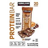 Kirkland Signature Protein Bars Chocolate Peanut Butter Chunk 2.12 oz, 20-count