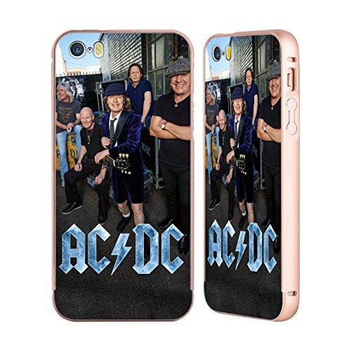 Officiel AC/DC ACDC Garage Photo De Groupe Or Étui Coque Aluminium Bumper Slider pour Apple iPhone 5 / 5s / SE
