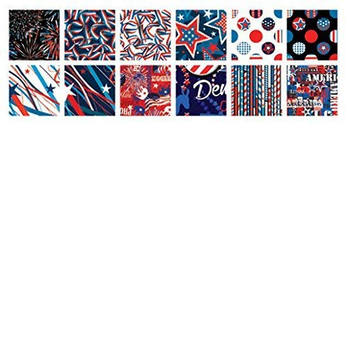 (All American Patriotic Charm Pack 42 5-inch Squares by Benartex)