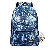 Global I Mall Backpack Bags, GIM Fashion Galaxy Sky Printing Schoolbags College Shoulder Back Pack/School Book Backpack Fits Boys and Girls Teen. (Blue)