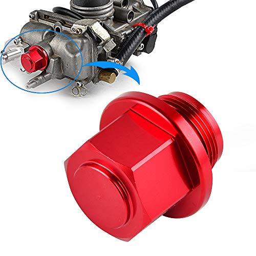 Nicecnc Red MX Carburetor Sump Drain Bolt Plug Cap & O-ring Replace ALL Motorcycles ATVs with Keihin FCR KEIHIN PJ,PWM,PE & PWK Carb,Honda,Suzuki,Kawasaki,Yamaha,KTM