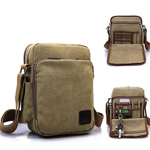 Outreo Borsa Tracolla Uomo Borse da Spalla di Tela Canvas Messenger Bag  Vintage Sacchetto di Tablet Piccolo Borsello ... 5725984665e