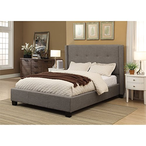 - Modus Furniture 3ZH3D67 Madeleine Wingback Platform Storage Bed California King Dolphin