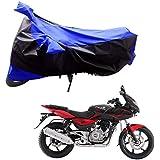 Adroitz AutoKraftZ Bike Body Cover for Bajaj Pulsar 220 DTS-i (Black Blue)