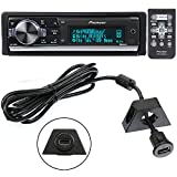 pioneer app head unit - Pioneer DEH-80PRS In-Dash Audiophile CD/MP3/USB Car Stereo Receiver w/ Bluetooth, 28bit DAC & iPod/Pandora Support + PAC USBCBL 6-Feet USB Cable with Mounting Bracket