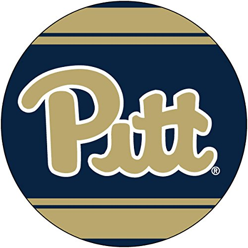 PITTSBURGH PANTHERS 4 ROUND STRIPED MAGNET-UNIVERSITY OF PITTSBURGH MAGNET