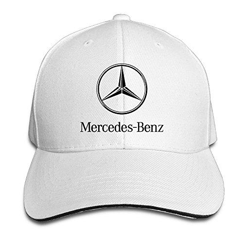 Price comparison product image Biotio Mercedes Benz Sandwich Peaked Baseball Caps / Hats Adjustable For Unisex
