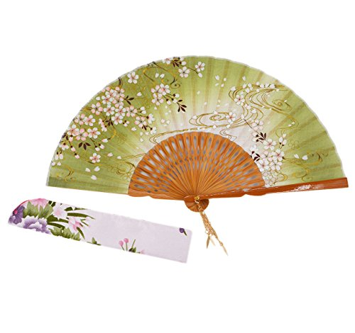 "Amajiji 8.27"" Hand-crafted Japanese-style folding fan NQE (002)"