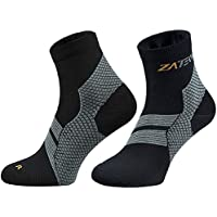 ZaTech Plantar Fasciitis Brace Sock, Compression Socks for Men & Women. Heel, Arch, Achilles, Light Ankle Support Brace. Increase Blood Circulation, Reduce Swelling, Foot Pain & Tendonitis Relief & Recovery