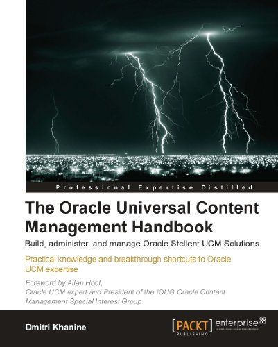 The Oracle Universal Content Management Handbook Pdf