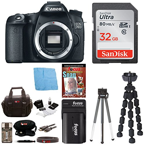 Canon EOS 70D 20.2 MP Digital SLR Camera (Body Only) with Advanced Accessory