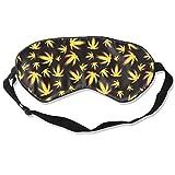 Best Marijuana Detoxes - Unisex Eye Mask,Best Yellow Gold Marijuana Background Sleeping Review