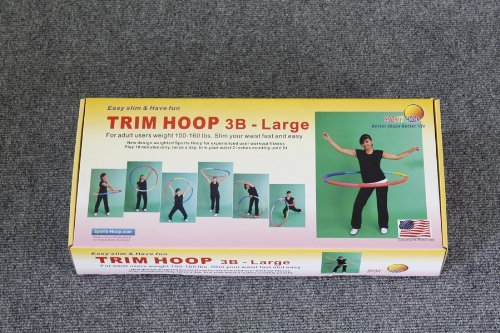 "Sports Hoop® - Trim Hoop® 3B - 3.1lb (Dia.41"") Large, Weighted Hula Hoop for Workout with 50 minutes Workout Lesson DVD"
