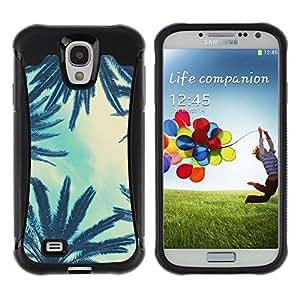 Suave TPU Caso Carcasa de Caucho Funda para Samsung Galaxy S4 I9500 / Trees Sky View Blue Clouds / STRONG