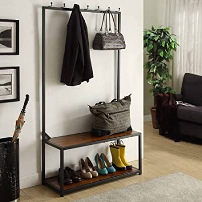 Tremont Hall Tree Bench, Chestnut -  - hall-trees, entryway-furniture-decor, entryway-laundry-room - 51kA3aqOcXL. SS400  -