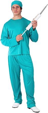 Mens Scrub Doctor Surgeon Uniform Hospital Job Fancy Dress Costume Outfit