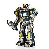 robotic armor - SainSmart Jr. HAP-P-KID Cybotronix Elite Robot Electronic Motorized Walking Robot, 14'' Robot with Lighted Gun and Removable Shoulder Armor