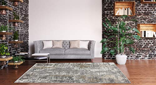 Luxe Weavers Euston Collection 7679 Grey 6×9 Abstract Area Rug