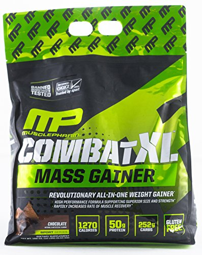 MusclePharm Combat XL Mass Gainer Powder, Chocolate, 12 Pound