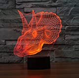 3D Desk Lamp Overlord Dinosaur Shape Gift Acrylic Night light Furniture Decorative colorful 7 color change household Home Accessories