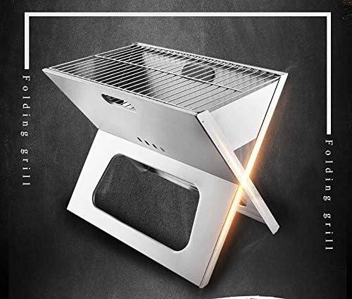 Barbecue Portatif De Charbon De Bois Équipement De Camping Barbecue Pliable De Camping En Acier Inoxydable