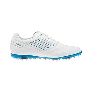 Chaussures de golf Adidas Adizero Tour blanc et jaune 2 Le