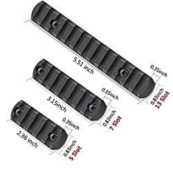 Fyland M-LOK Rail Section, 5-Slot 7-Slot 13-Slot Picatinny Rail for M-LOK Compatible Systems with 3 Allen Wrench, 12 T-Nuts and 12 Screws