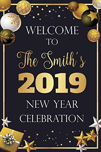 Amazon.com: New Year Welcome Party Sign, Ornaments, Gifts, New Year ...