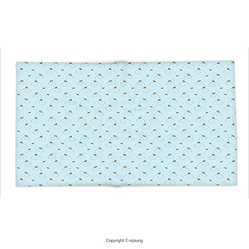 Custom printed Throw Blanket with Damask Vintage Chevron Pattern in Two Colors with Embellished Flowers Print Light Blue Cocoa Sepia Super soft and Cozy Fleece Blanket