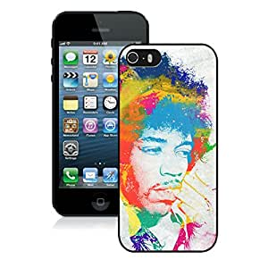 New Fashion Custom Designed Cover Case For iPhone 5S With Jimi Hendrix Black Phone Case