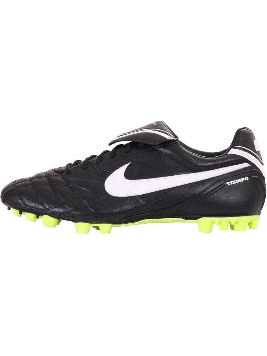 Nike TIEMPO MYSTIC III AG Herren Fußballschuh, schwarz Weiß-volt, Gr.42 (US8.5)(UK7.5)